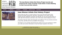 iowa women artists oral history project